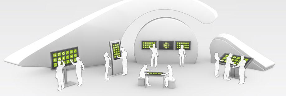 custom design interactive touch screens displays kiosks