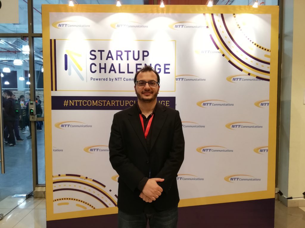Homam Alghorani founder of Wonderland Technologies Sdn Bhd at NTT startup challenge final round